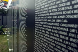 """There are more than 58,286 names engraved on the Vietnam Memorial in Washington DC. As I stand here, looking at my reflection in the wall, I feel the enormity of their presence. How could so many who served with us, not return? Then I think about the fact that every two years, more lives are taken by gun violence in the United States than all the names engraved on this solemn wall. Ed Smith, President HCGV"